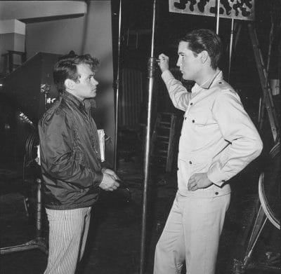 David Winters and Elvis Presley on the set of Girl Happy