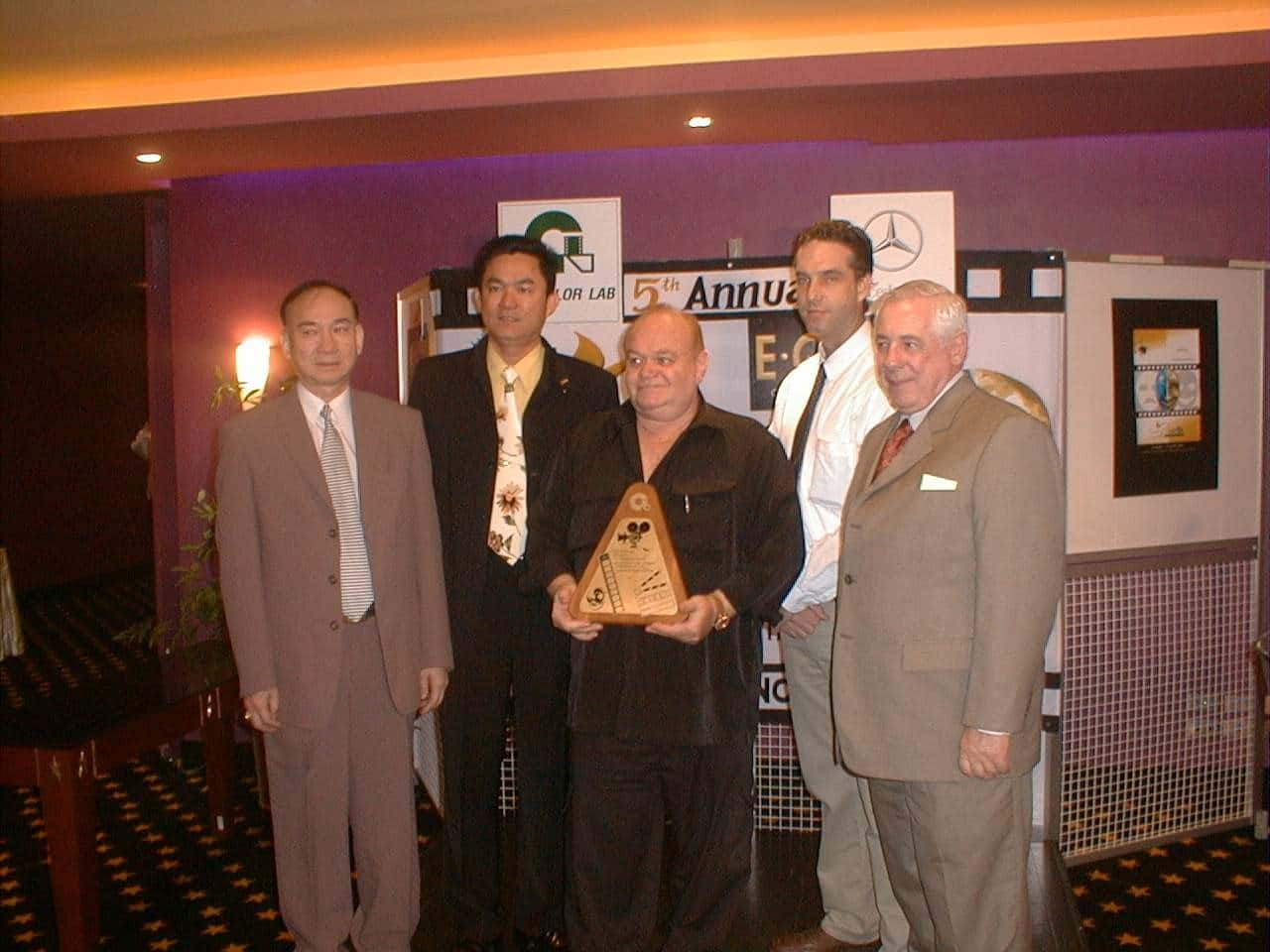 4. david winters accepting bangkok film festival award