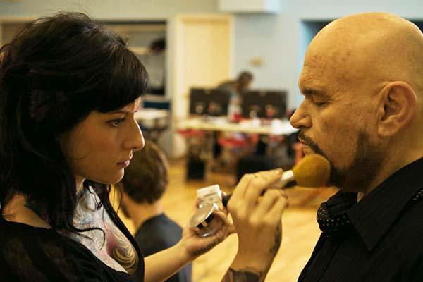 David with Makeup Artist