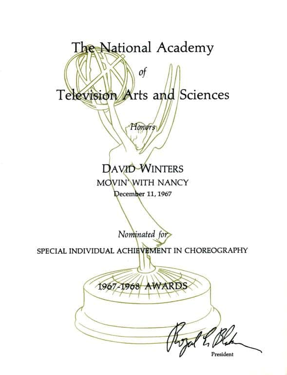 18. EMMY Nomination on MOVING WITH NANCY